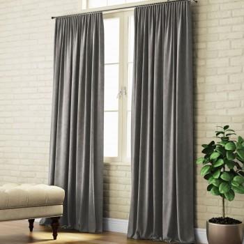 Комплект штор Суэт темно-серый