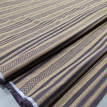 Ткань гобелен Полоса коричневый 661541