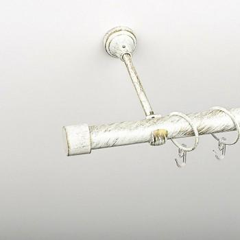 Карниз однополосный Рулло белое золото 19 мм