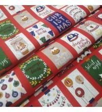Новогодняя ткань Christmas мультиколор