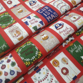 Новогодняя ткань Christmas мультиколор 665271