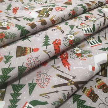 Новогодняя ткань для Зимние забавы 1-83092