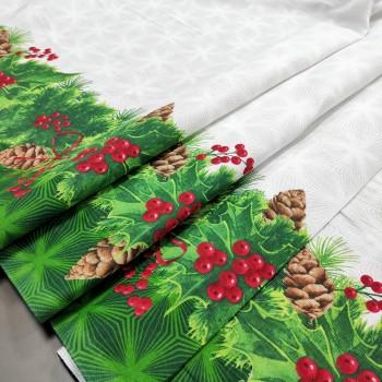 Ткань для скатерти Новогодний Лес 84103