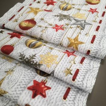 Ткань для дорожка Новогодняя звезда 1-44003