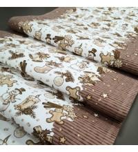 Новогодняя ткань для дорожка Джиндже