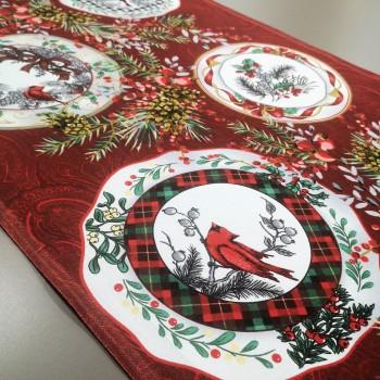 Новогодняя ткань для дорожка Элегант 44092