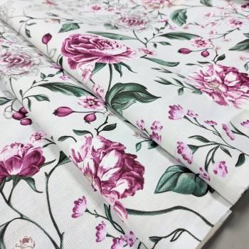 Скатертная ткань рогожка Вивьен серый 633571