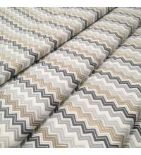 Скатертная ткань Зигзаг мелкий серый