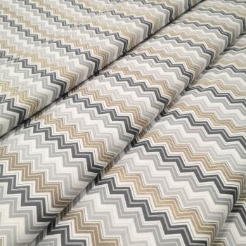 Скатертная ткань Зигзаг мелкий серый 5715-1