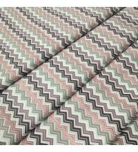 Скатертная ткань Зигзаг мелкий лиловый