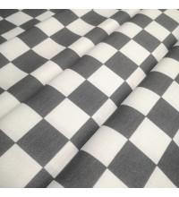 Скатертная ткань Квадрат серый