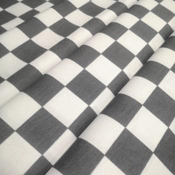 Скатертная ткань Квадрат серый 1005-6