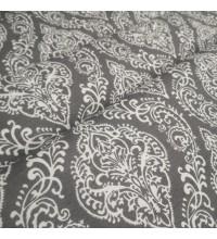 Скатертная ткань Вензель серый
