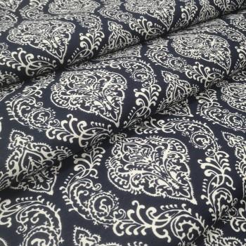 Скатертная ткань Вензель синий 2016-21
