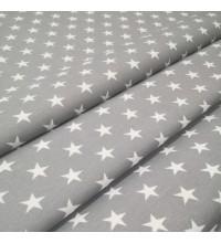 Скатертная ткань Звезды серый