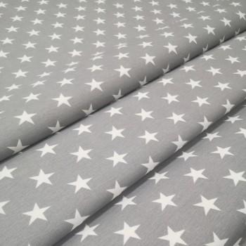 Скатертная ткань Звезды серый 2008-7