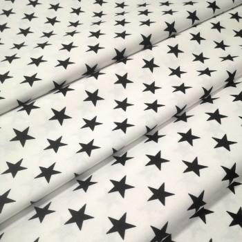Скатертная ткань Звезды белый 2008-5