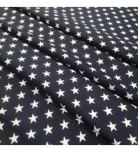 Скатертная ткань Звезды синий