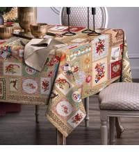 Новогодняя скатерть на стол Рождественские мотивы