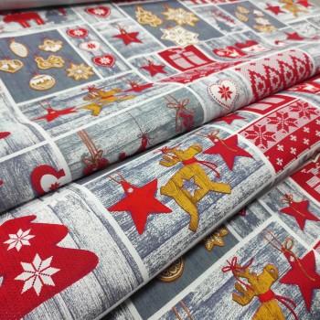 Новогодняя ткань для скатерти Чудеса 1073111
