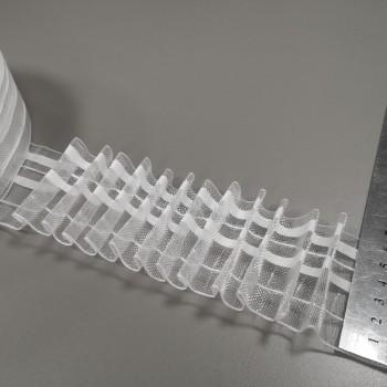 Тесьма для штор прозрачная карандаш 60 мм 07826