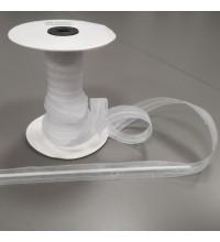 Тесьма для римских штор прозрачная  с тунелькой 20 мм