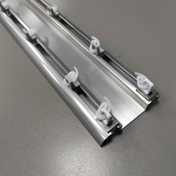 Потолочный карниз DS двухполосный сталь