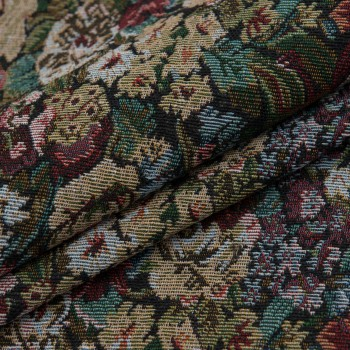 Ткань гобелен Рамина цветы 110541