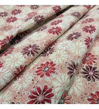 Ткань гобелен Ромашки красный