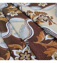 Ткань гобелен Любава коричневый