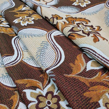 Ткань гобелен Любава коричневый 41819