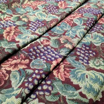 Ткань гобелен Бальзамин бордовый 530541