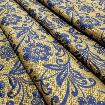 Ткань гобелен Манила синий 571541