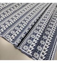 Ткань гобелен Афина орнамент синий