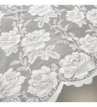 Тюль Гипюр Розы белый 140 см