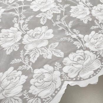 Тюль Гипюр Розы белый 140 см 01-47308