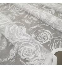 Тюль Гипюр Роуз цвети белый 120 см