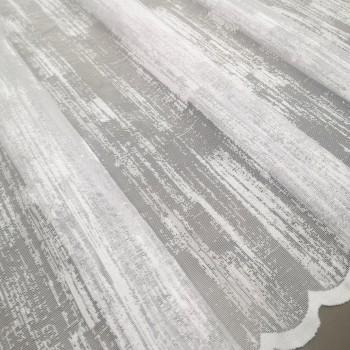 Тюль Гипюр Мрамор белый 280 см