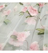 Тюль органза Марион Розы розовый
