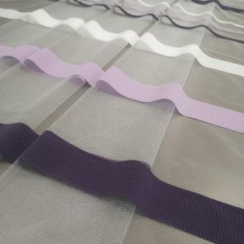 Тюль сетка полоса Сенай фиолетовый