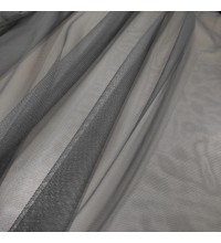 Тюль Сетка Грек темно-серый