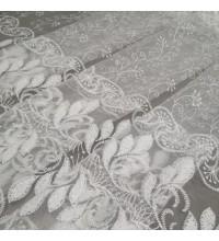 Тюль сетка Умут вышивка белый