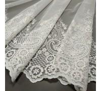 Тюль вышивка Анна белый