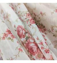 Тюль вуаль Букет Розы красный