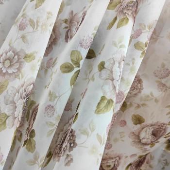 Тюль вуаль Розочки лиловый