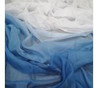 Тюль Омбре синий