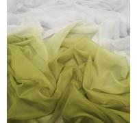 Тюль Омбре оливковый